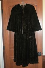 Long 70s Brown Velvet Skirt matching Cape Prairie Caroling sz Xs Girls Juniors