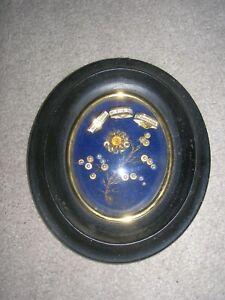 cadre reliquaire napoleon iii verre bombé ovale relique ste germaine et chantal