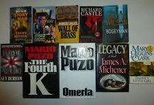 10 Lot Murder Mystery Suspense,Mack Bolan,Mario Puzo, James Michener,Mary ClarM8