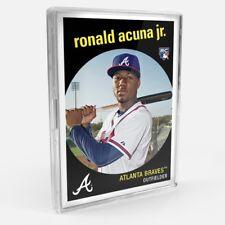 Ronald Acuna Jr. THROWBACK THURSDAY SET #27 - '59 BASEBALL DESIGN 2018 Braves