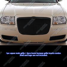 Fits 05-10 Chrysler 300 Black Mesh Grille Combo Insert