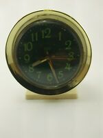 Vintage Tozai Glow in the Dark Face Wind Up Alarm Clock-RARE