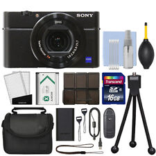 Sony Cyber-shot DSC-RX100 V M5 20.1MP Digital Camera 4K Video Black + 16GB Kit
