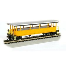 Bachmann BAC17448 HO Open Sided Excursion Car w/Seats Unlettered Silver/Yellow