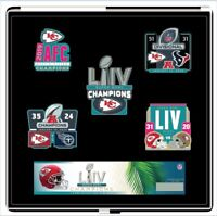 SUPER BOWL 54 KANSAS CITY CHIEFS 5 PC NFL CHAMPIONSHIP PIN SET SUPERBOWL LIV