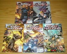 End of Nations #0 & 1-4 VF/NM complete series based on online strategy game 2 3