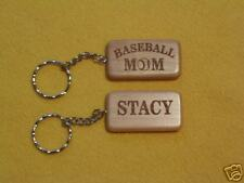 Baseball Mom Laser Engraved Personalized Keychain Sport