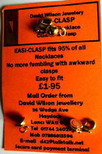 MAGNETIC EAZI CLASP  GP-FUMBLE FREE!  NECKLACE FASTENER