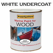 Marine Boat WHITE UNDERCOAT for Wooden Boats 750ml