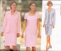 Butterick 6456 Misses' /Misses' Petite Jacket & Dress 6, 8, 10  Sewing Pattern