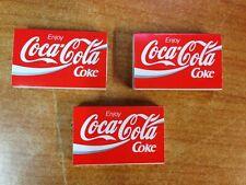 Rare Vintage Lot of 3 1980's Coca Cola Coke Matchboxes no2