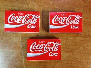 Rare Vintage Lot of 3 1980's Coca Cola Coke Matchboxes