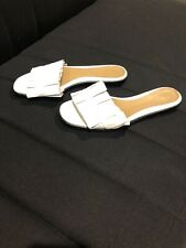 The Row White Slippers Size 37 1/2 In Brand New Condition Worn Twice