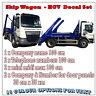 Skip Hire Stickers Full Set - Vinyl Decal - Transporter Truck, HGV Vehicle