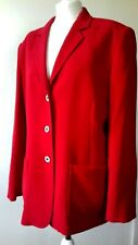 Size 18 Crimson Red Blazer Career Office Jacket TRAFFICSPORT Polyester Casual
