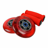 RED Replacement Razor Scooter Wheels, ABEC 7 Bearings, RED Grips