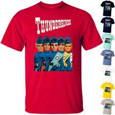 Cartoon: Thunderbirds V1 science fiction 1965 poster T Shirt All sizes S-5Xl