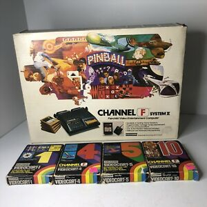 Fairchild Channel F System II 2 In Box W/4 Games