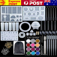 Handmade Crystal Glue Mould Mold Set Resin Jewelry Mold Kit (83pcs) AU STOCK