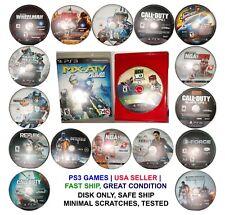 PS3 Game LOT Playstation 3  Bundle and save Sports, shooting, kids, racing