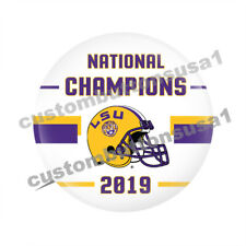 LSU BUTTON - 2019 NATIONAL CHAMPIONS - CHAMPS pinback - College Football  Tigers