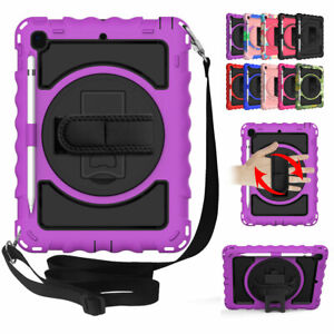 For iPad 9.7 6th/5th Generation Hybrid Rugged Tablet Case Cover with Stand Strap