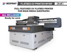 Bp35f Full Featured Uv Flatbed Printer3x5 For Rigid Media Substrates Cmyk