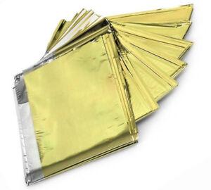 Rettungsdeck Rettungsfolie gold silber 210x160 Notfall Folie Decke Oster