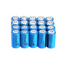 20pcs Ultrafire 16340 Battery 3.7V 1800mAh Rechargeable Li-Ion Batteries Cell
