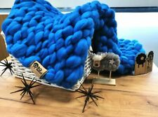 BQ Wool Handmade - 100% Merino Wool Chunky Knitted Blanket
