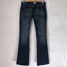 Antik Denim Womens Size 27 Jeans Boot Cut Cotton Blend Distressed Dark Wash