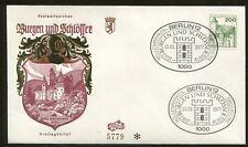 1977 Berlin Germany - Castles & Palaces - Burg Burresheim Eifel First Day Cover