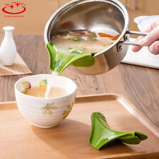 Practical Silicone Soup Funnel Kitchen Gadget Tools Water Deflector Cooking Tool