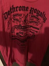Dethrone Royalty Pistols Red Tshirt 3XL XXXL NWOT