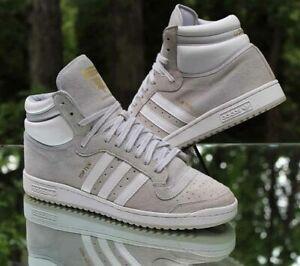 Adidas Originals Top Ten Hi Men's Size 12 Light Grey White F37590
