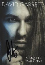 Autogramm - David Garrett