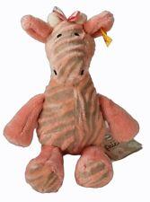 Steiff Giselle Bell Giraffe 25cm Rose Soft Toy with Rattle/Bell *NEW* 240393