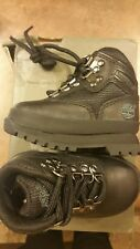 Timberland Eurohiker Boots Toddler Boys Size 4 Black New With Box