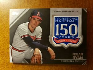 2019 Topps Update 150th Anniversary Manufactured Patches #AMPNRY Nolan Ryan