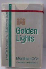 VINTAGE GOLDEN LIGHTS MENTHOL 100'S CIGARETTES PLAYING CARD DECK SEALED
