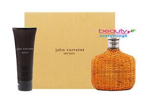 John Varvatos Artisan 2PC Gift Set  4.2oz EDT+3.4oz Aftershave gel NIB For Men
