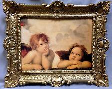 Raffael ENGEL Bild mit Rahmen barock 56x46 Schutzengel Raphael Gemälde Antik