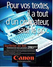 Publicité Advertising 028  1996  Canon   traitement teste Starwriter Jet 30