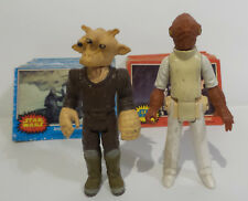 STAR WARS : RED & BLUE TRADING CARDS, ADMIRAL ACKBAR & REE YEES ACTION FIGURES