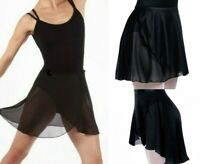 Motionwear Black Wrap Skirt Dance Costume Ice Skating Clearance New Adult Medium