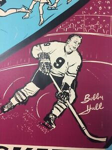 ORIGINAL 1960's BAUER HOCKEY SKATES STORE DISPLAY STANDEE BOBBY HULL KWL_CARDS