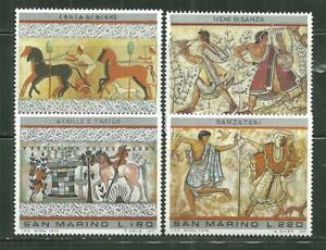 SAN MARINO 854-57 MNH ETRUSCAN ART