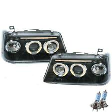 Scheinwerfer Set Peugeot 205 90-98 Facelift klarglas/schwarz Angel Eyes 1100564