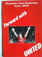 1988/89 Foward with United Manchester United Official Members Brochure