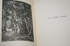 SAINTE BEUVE LE CLOU D'OR LA PENDULE GRAVURE PERRICHON 1920 LAFUMA NUMEROTE